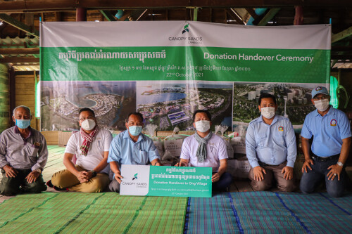 Canopy Sands Provides Care Packages to Childcare NGO M'Lop Tapang, Sihanoukville Residents