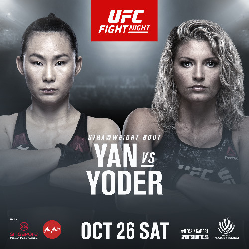 China Standout Yan Xiaonan Faces Ashley Yoder At UFC FIGHT NIGHT: MAIA vs. ASKREN