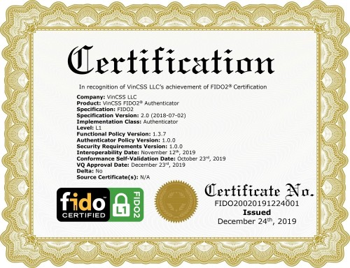 Vingroup Is Now Among 34 FIDO2 Certified Companies in The World