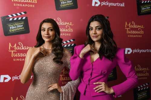 Fans experience 'triple vision' as Kajal Aggarwal is immortalized in more than wax at Madame Tussauds Singapore