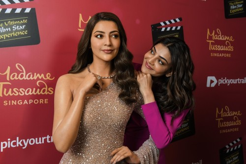 Fans experience 'triple vision' as Kajal Aggarwal is immortalized in more than wax at Madame Tussauds Singapore - Brand Spur