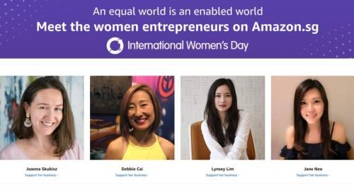 Amazon Singapore Celebrates the Success of Women Entrepreneurs this International Women's Day - Brand Spur