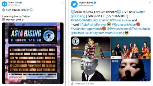 Twitter livestreams global concert ASIA RISING FOREVER