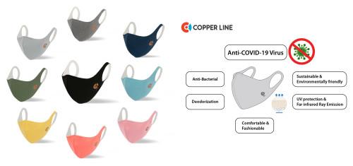 Revolutionary Copperline Face Mask Scientifically Proven to Deactivate COVID-19 (SARS-CoV2)