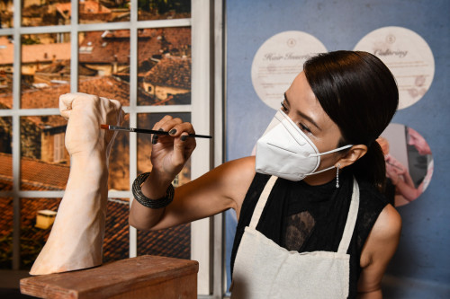 Zoe Tay Becomes A Wax Artist as She Unveils Her New Look
