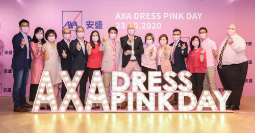 AXA supports Hong Kong Cancer Fund Dress Pink Day as Principal Sponsor