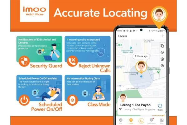 imoo Singapore giới thiệu Đồng hồ Điện thoại Z6 (Watch Phone Z6) giúp phụ huynh quản lý tốt trẻ em