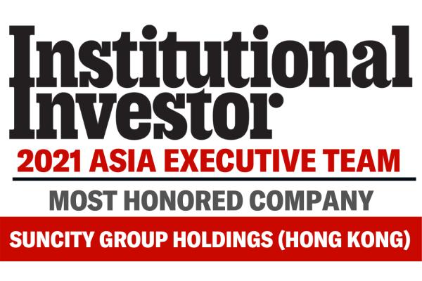Suncity được Institutional Investor bình chọn là số 1 trong lĩnh vực Trò chơi & Nhà nghỉ năm 2021 ở châu Á