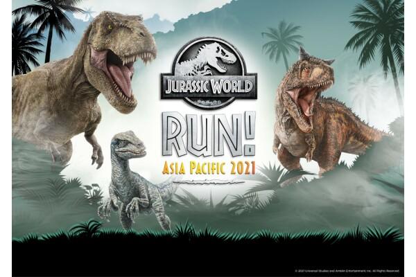 Từ 26/7 đến 30/10/2021, sẽ thực hiện đếm ngược Cuộc chạy bộ ảo Jurassic World ở châu Á -Thái Bình Dương