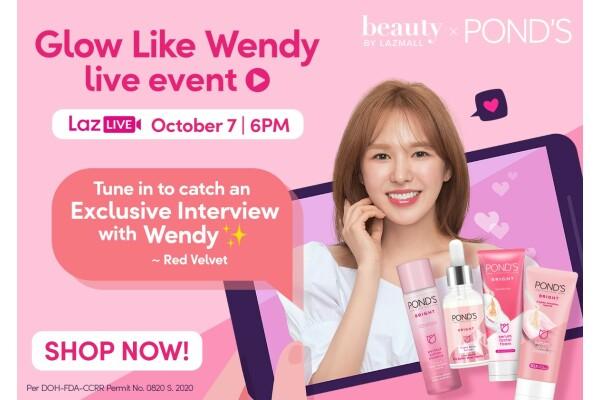 Vào ngày 7/10, Hãng mỹ phẩm POND'S cùng Lazada khởi động chiến dịch quảng bá với Wendy, ngôi sao K-pop