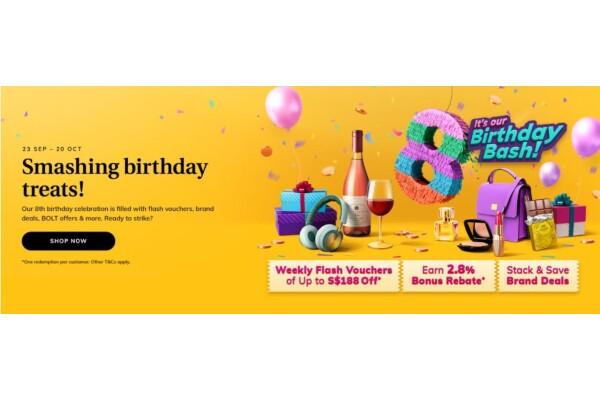Kỷ niệm sinh nhật lần thứ 8, iShopChangi có nhiều chương trình khuyến mãi lớn, hấp dẫn cho khách hàng