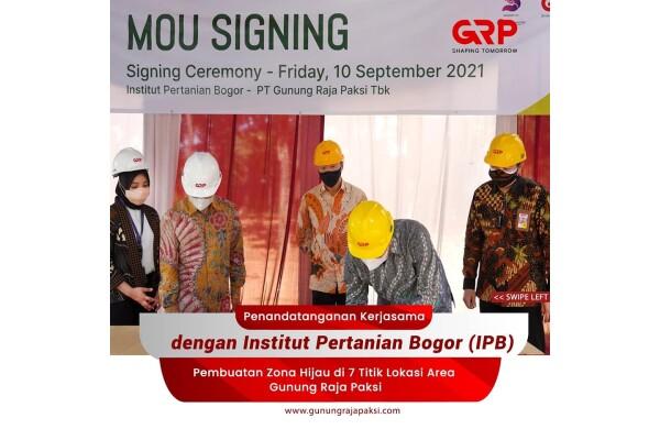 Công ty thép Gunung Raja Paksi hợp tác với Viện Pertanian Bogor để giúp nâng cao năng lực về ESG