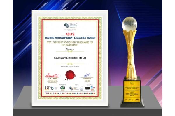 GEODIS được vinh danh tại Lễ trao giải thưởng xuất sắc về đào tạo và phát triển châu Á năm 2021